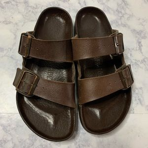 Birkenstock's sporty  brown sandals